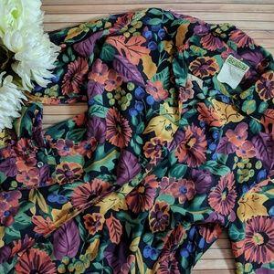 Vintage Esprit Floral Fall Print Button Down